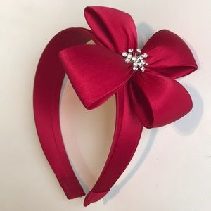 Other - Girl's Red Bow Headband